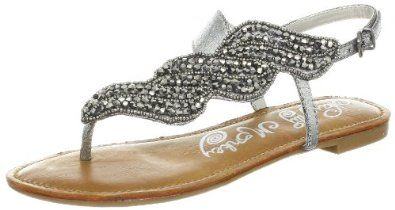 Amazon.com: Naughty Monkey Women's Illusion Thong Sandal: Naughty Monkey: Shoes