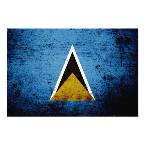 Black Grunge Saint Lucia Flag Photo Print Zazzle Com St Lucia Flag Flag Photo Photo Printing