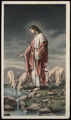 "santino-holy card""""ediz. NB serie L n.517 GESU' BUON PASTORE"
