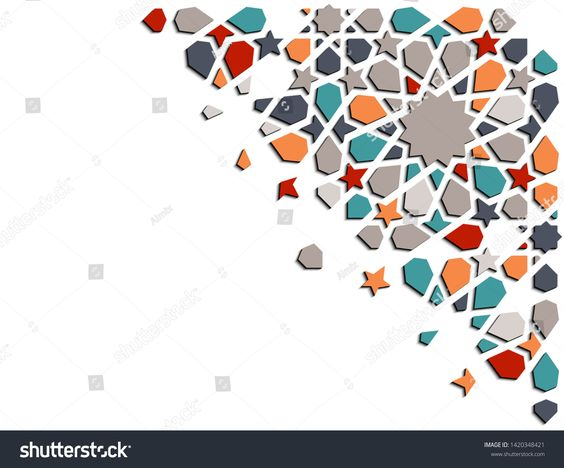 Arabesque 3d Isometric Color Geometric Vector Pattern For Background Card Banner Arabic Geometric Creative De Geometric Vector Islamic Mosaic Arabic Pattern