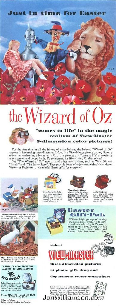 View-Master Wizard of Oz: Viewmaster Advertisements, View Master, Master Wizard, The Wizard Of Oz, 70 S Teen, Vintage Viewmaster, Photo