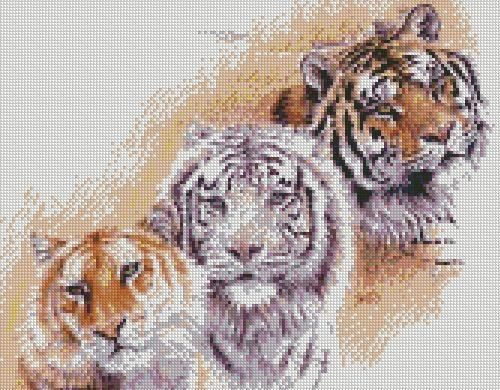 The Painted Cat Chart Counted Cross Stitch Patterns Needlework embroidery