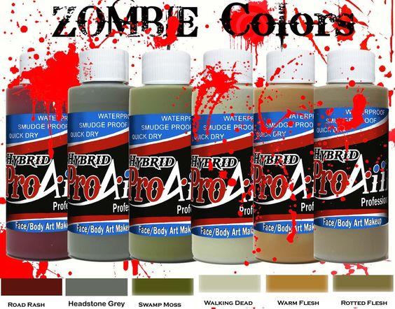 ProAiir Hybrid Waterproof Makeup - Zombie Colors - SOBA - Show Offs Body Art - 1