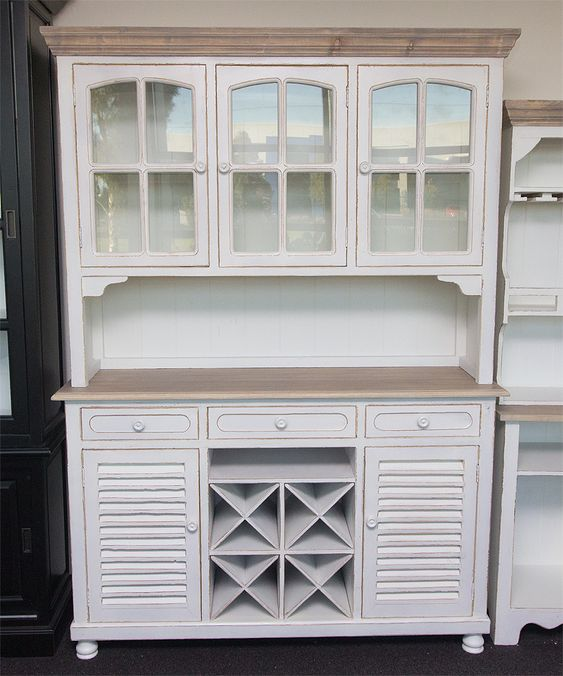 wine buffet cabinet with hutch | French Provincial Style Kitchen Buffet,  Hutch, Wine Rack