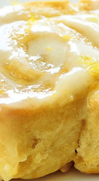 Sticky Lemon Rolls With Lemon Cream Cheese Glaze Di 2020 Hidangan Penutup Makanan Resep Makanan Penutup
