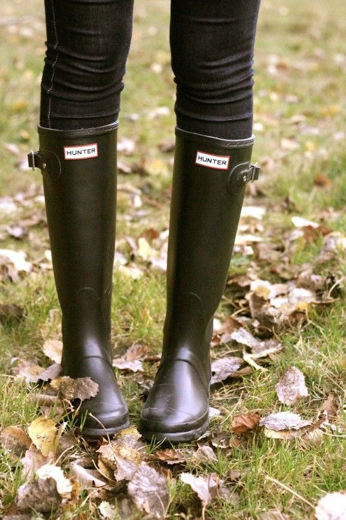 The Essential: Hunter Wellington Boots   South Molton St Style