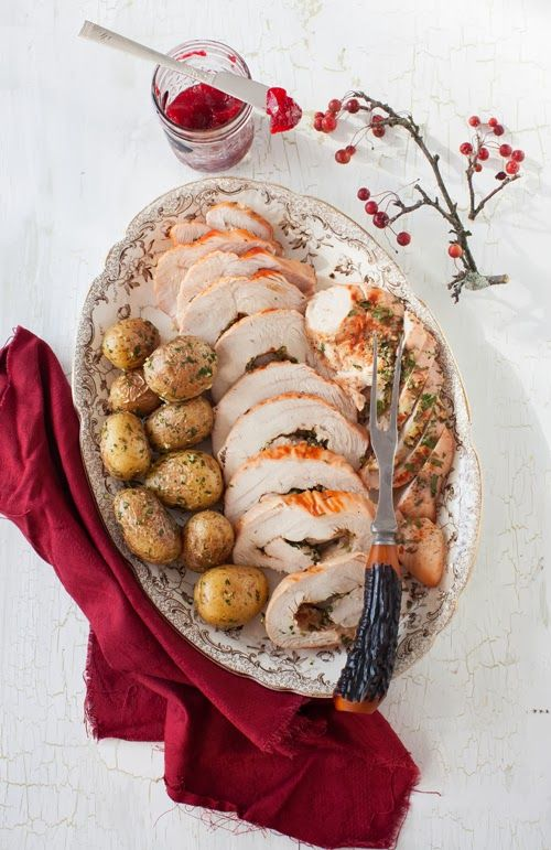 Roasted Rolled Turkey Breast with Garlic & Herbs | Chicken Dishes ...