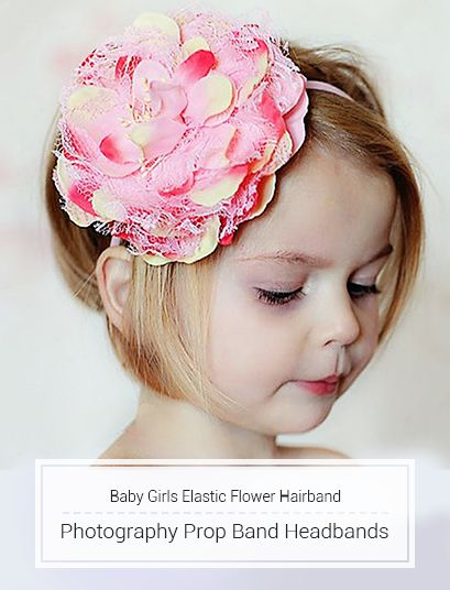 Baby Girls Elastic Flower Hairband Photography Prop Band Headbands