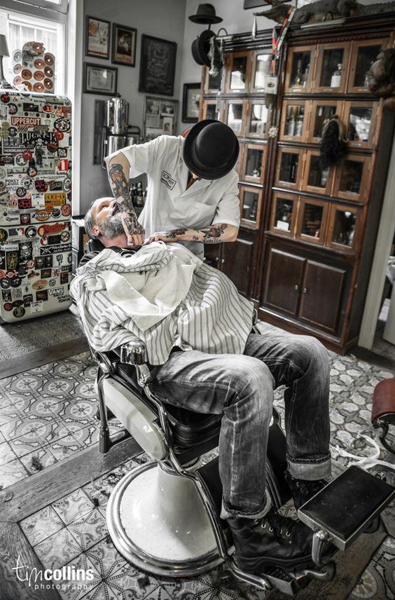 barber shop barbers and shop by on pinterest. Black Bedroom Furniture Sets. Home Design Ideas