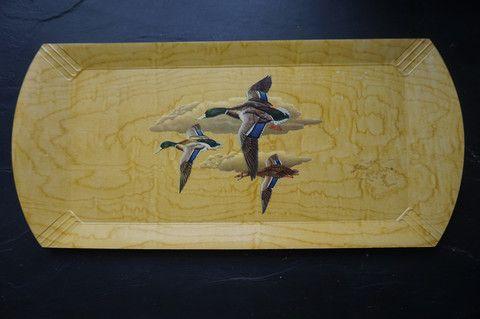 Vintage ducks bar tray