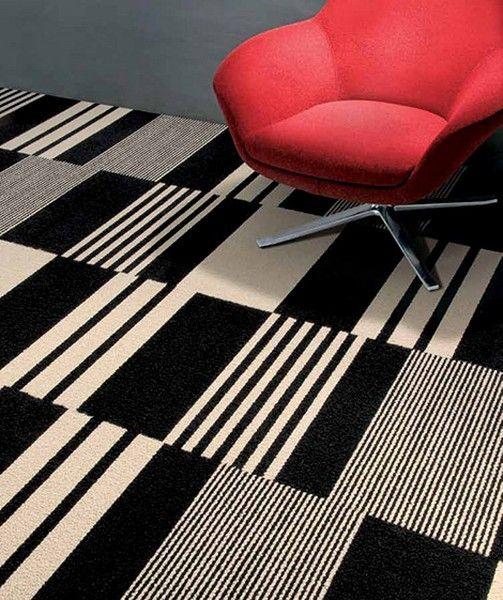 black and white carpet tiles