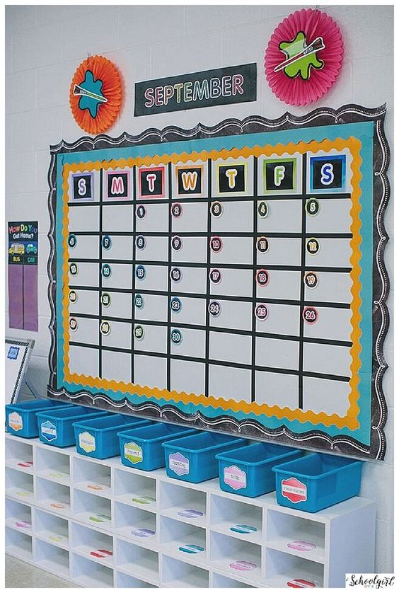 Classroom Decor And Learning ~ Calendar classroom and schoolgirl style on pinterest