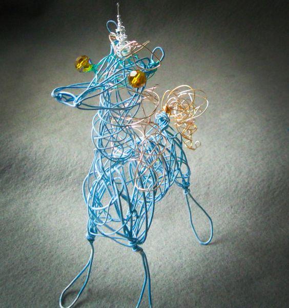 Unicorn Ornament Gift Wire Horse Sculpture Unicorn by WireArtInk