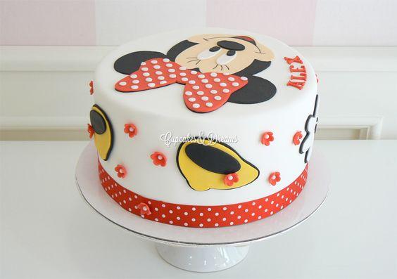 Tarta Minnie Mouse color rojo   Tartas y Galletas
