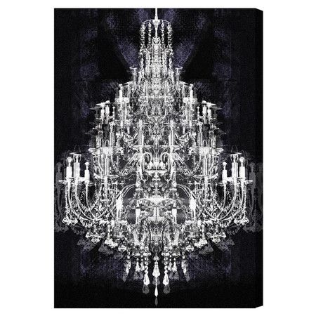 Chandelier Wall Art pink canvas wall modern art picture print chandelier giclee square