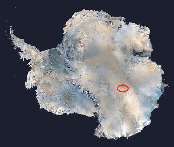 Científicos identifican el lugar más frío del mundo, cuya temperatura desciende a -93.2 ºC