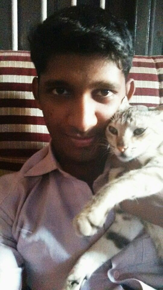 With my cat