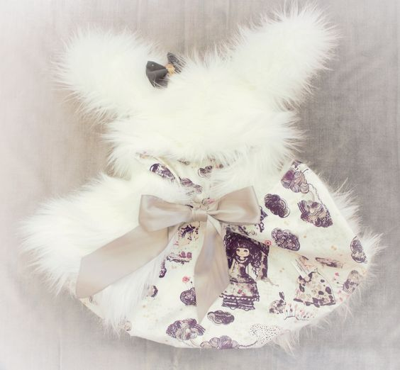 Image of Luxe White Faux Fur Alice in Wonderland Rabbit Cape