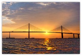Sunshine Skyway Bridge - Tampa Bay Florida