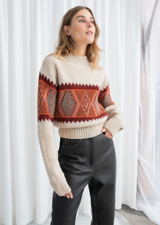 Wool Blend Fairisle Sweater - Multicoloured - Patterned sweaters - & Other Stories
