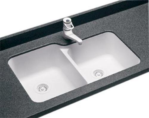 Swanstone Undermount Double Bowl Kitchen Sink At Menards  Kitchen Brilliant Menards Kitchen Sinks Design Decoration