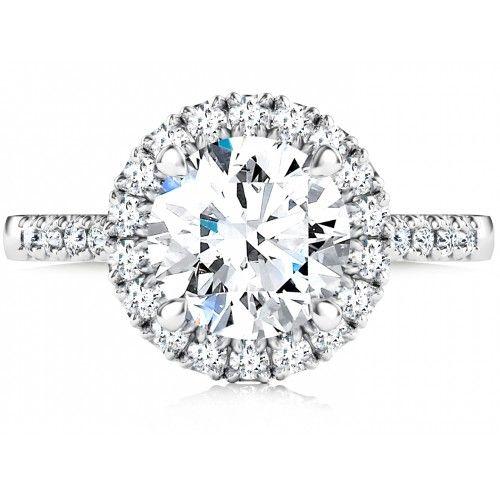 Platinum Halo Diamond Engagement Ring