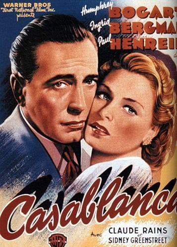 Casablanca (1942), with Humphrey Bogart - Ingrid Bergman - Claude Rains, director Michael Curtiz