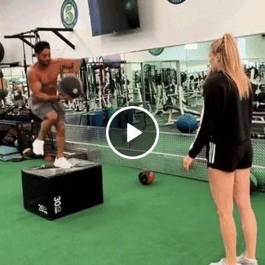 Homem está tentando ficar em forma