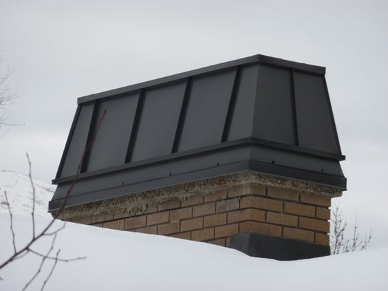 steel chimney cap. Form and function!