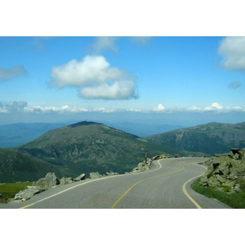 We drove to the top of Mount Washington and back down.