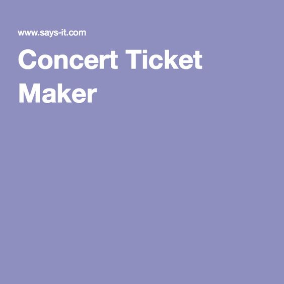 Doc400141 Concert Ticket Maker Ticketmaker smorgasbork 84 – Ticketmaker