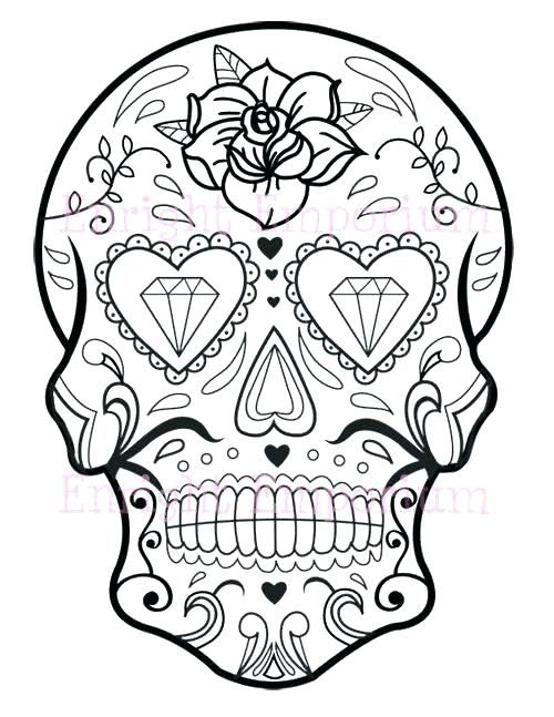 Sugar Skull Coloring Pages Pdf At Getcolorings Com Free
