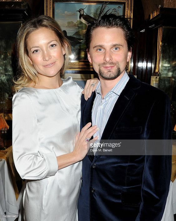 Kate Hudson (L) and Matt Bellamy attend the Hawn Foundation UK launch event hosted by Goldie Hawn at Annabels on March 7, 2012 in London, England.: