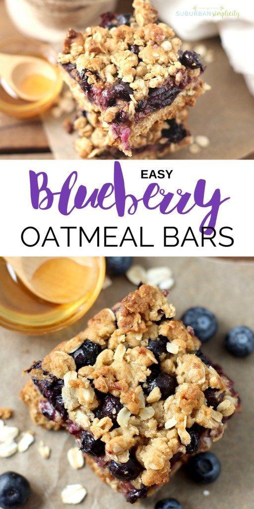 Amazing Blueberry Oatmeal Bars