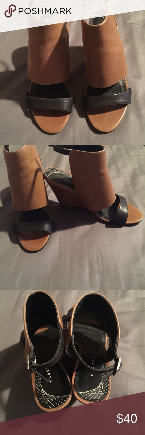 Trouvé wedges Really good condition, normal use, very comfortable Trouve Shoes Wedges
