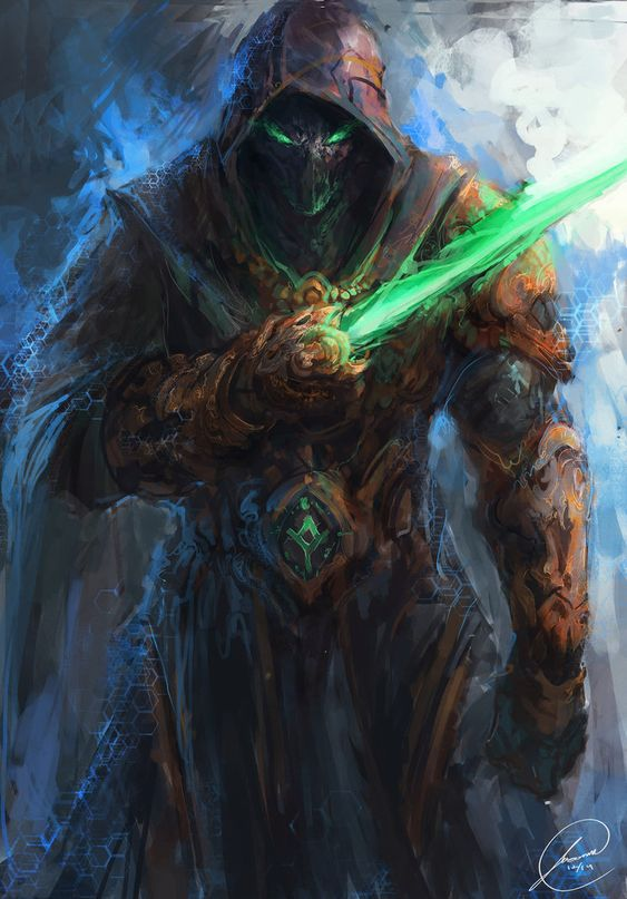 Hey guy's here is a dark templar redesign I did for brain storm's starcraft 1 redesign. I hope you all like it Had a ton of fun painting this dude! Draw Crowd :drawcrowd.com/jasonarts Art Sta...