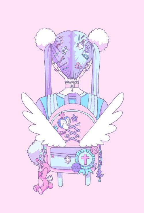 Credits To The Artist Pastel Pastelgirl Kawaii Digitalart