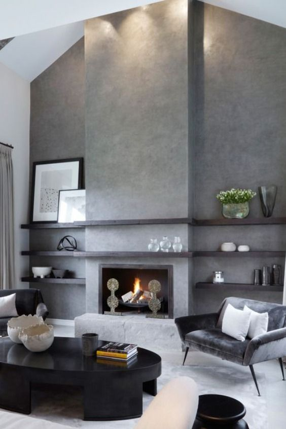 Granddaughter Of Homes Tycoon Sir Lawrence Barratt Fiona Barratt Campbell Is An Interior Designer With An Unmistakable Design P In 2020 Home Fireplace Fireplace Design Interior Design