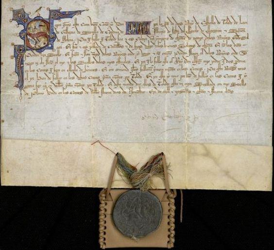Real provisión de Alfonso XI / Laminario del Archivo Municipal de Toledo