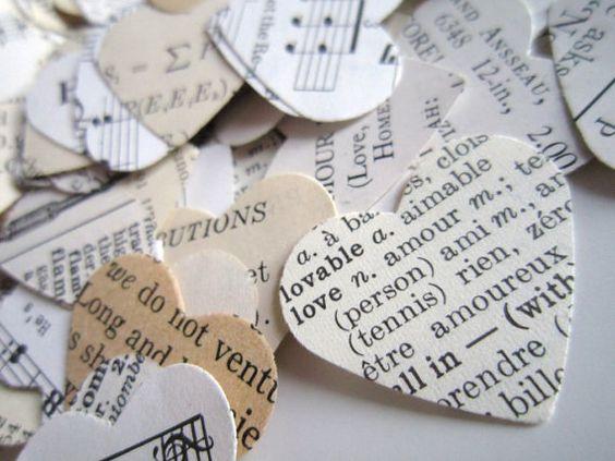 Confetti 500 éclectique coeur confettis de par TheLonelyHeart