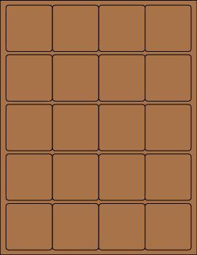 "2"" square Brown Kraft label sheet from #www.KraftOutlet.com $.79 per sheet"