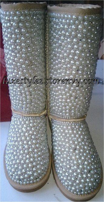 Tall Custom Pearl Boots