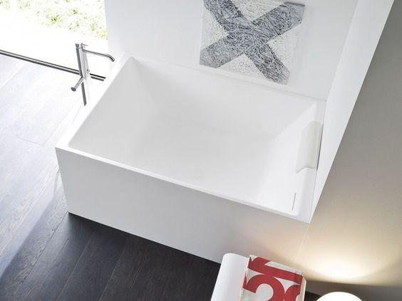 Rectangular korakril™ bathtub unico mini unico collection by rexa ...