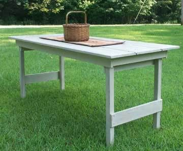 Primitive Harvest Table with folding legs Pattern/Plan WN128 | eBay