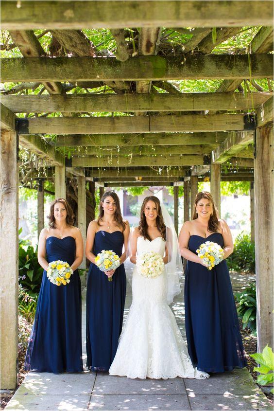 navy and yellow wedding colors weddings pinterest