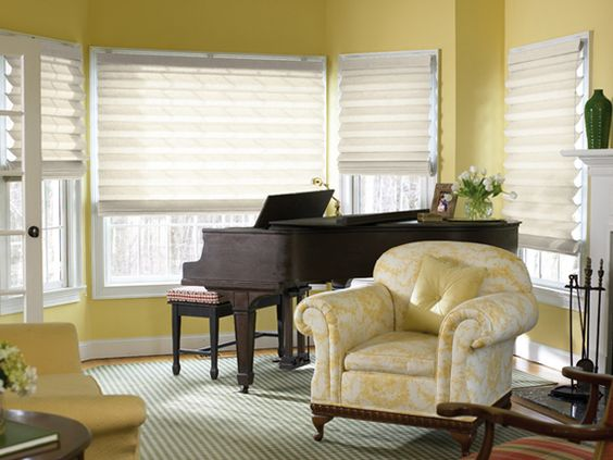Try Roman Shades on Bay Windows - Enhance a Room's Design Style With Window Treatments on HGTV