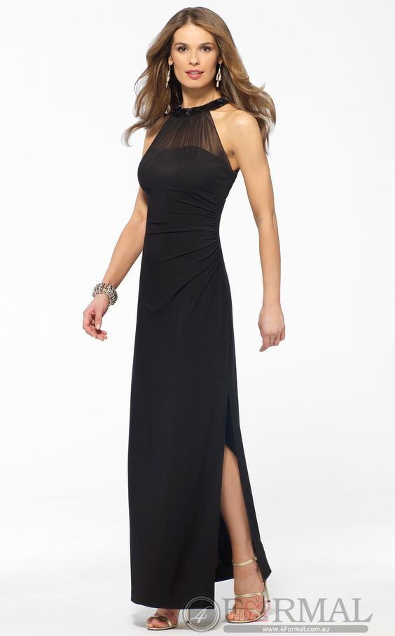 Shop Formal Dresses for Black Long Semi Formal Dress for women ...
