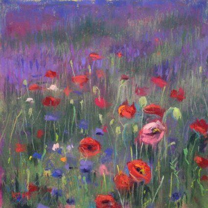 Lavender Paintings. karen margulis