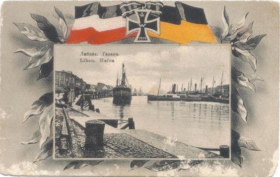 Hafen Libau 1914.