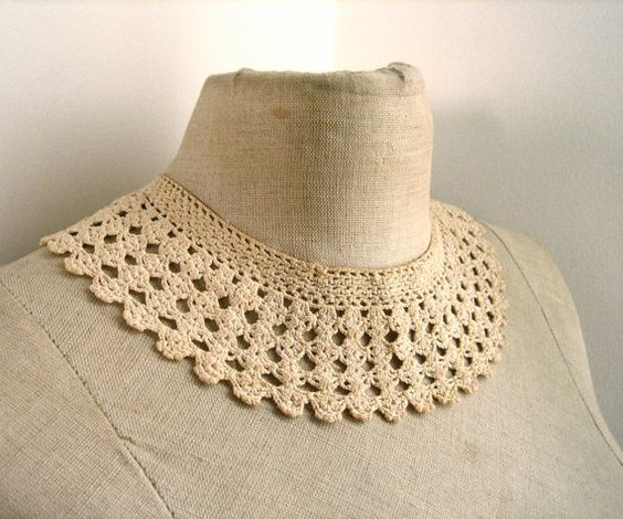 Long live crochet collars.